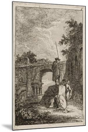 Plate Eight from Evenings in Rome, 1763-64-Hubert Robert-Mounted Giclee Print