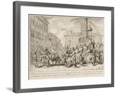 The Chinese Mascarade, 1735-Jean Baptiste Marie Pierre-Framed Giclee Print