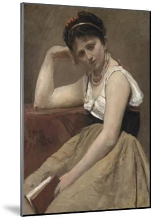 Interrupted Reading, C.1870-Jean-Baptiste-Camille Corot-Mounted Giclee Print