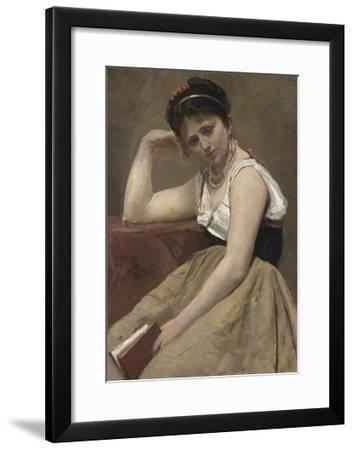 Interrupted Reading, C.1870-Jean-Baptiste-Camille Corot-Framed Giclee Print