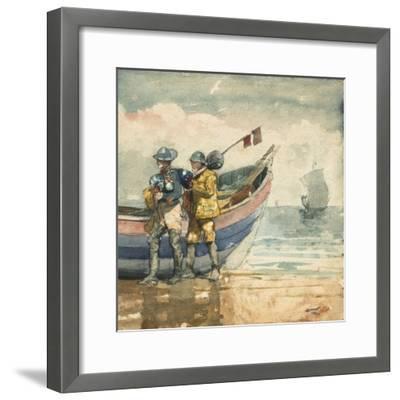 The Return, Tynemouth, 1881-Winslow Homer-Framed Giclee Print