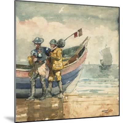 The Return, Tynemouth, 1881-Winslow Homer-Mounted Giclee Print