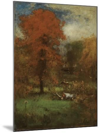 The Mill Pond, 1889-George Inness Snr.-Mounted Giclee Print