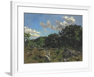 Landscape at Chailly, 1865-Jean Frederic Bazille-Framed Giclee Print