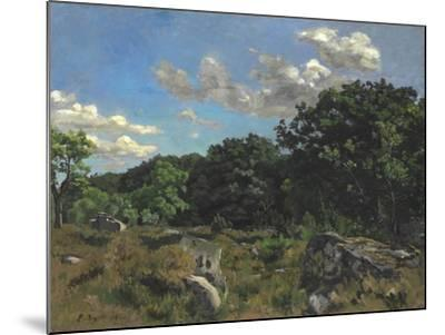 Landscape at Chailly, 1865-Jean Frederic Bazille-Mounted Giclee Print