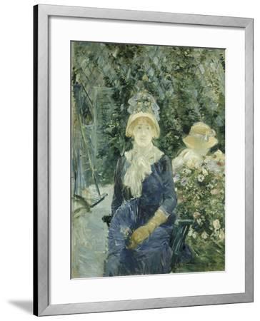 Woman in a Garden, 1882-83-Berthe Morisot-Framed Giclee Print
