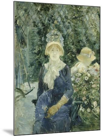 Woman in a Garden, 1882-83-Berthe Morisot-Mounted Giclee Print