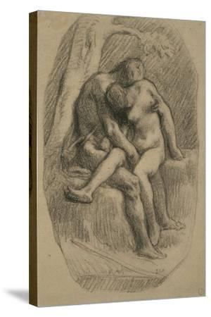 The Lovers, 1846-50-Jean-Francois Millet-Stretched Canvas Print