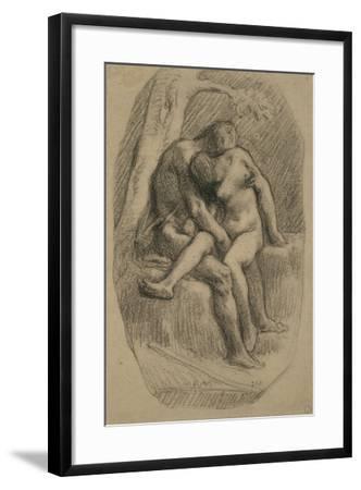 The Lovers, 1846-50-Jean-Francois Millet-Framed Giclee Print