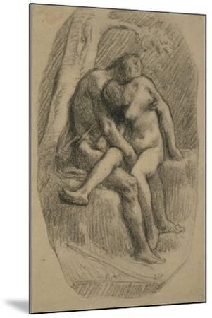The Lovers, 1846-50-Jean-Francois Millet-Mounted Giclee Print