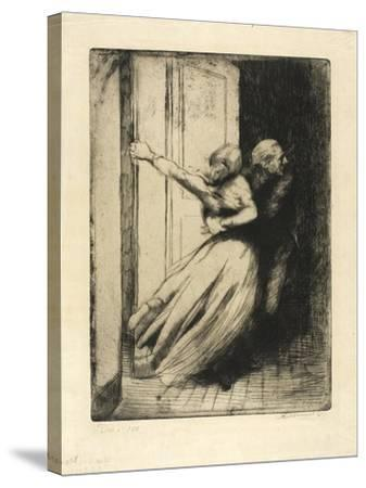 The Rape, Plate Eight from Woman, C.1886-Paul Albert Besnard-Stretched Canvas Print