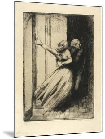 The Rape, Plate Eight from Woman, C.1886-Paul Albert Besnard-Mounted Giclee Print