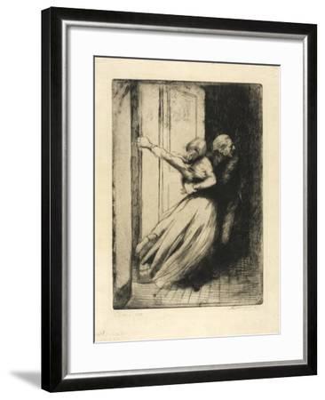 The Rape, Plate Eight from Woman, C.1886-Paul Albert Besnard-Framed Giclee Print
