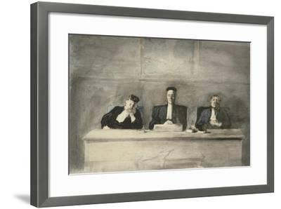The Three Judges, 1858-60-Honore Daumier-Framed Giclee Print
