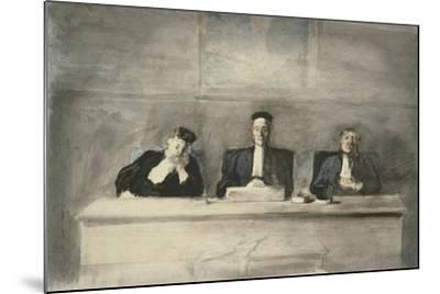 The Three Judges, 1858-60-Honore Daumier-Mounted Giclee Print