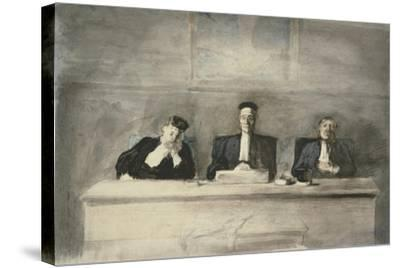 The Three Judges, 1858-60-Honore Daumier-Stretched Canvas Print