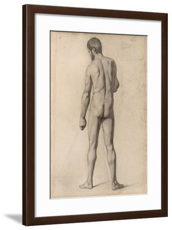 Academic Nude, Seen from the Back, 1862-Paul Cezanne-Framed Giclee Print