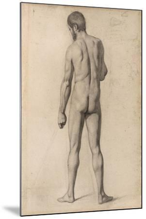 Academic Nude, Seen from the Back, 1862-Paul Cezanne-Mounted Giclee Print