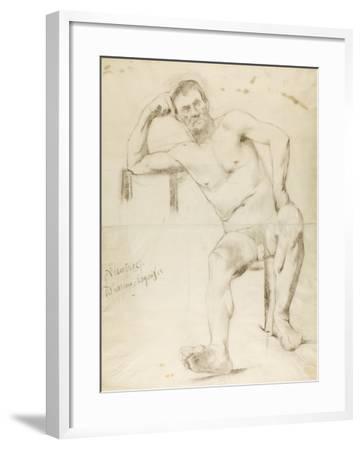 The Model Nizzavena, C. 1882-83-Henri de Toulouse-Lautrec-Framed Giclee Print