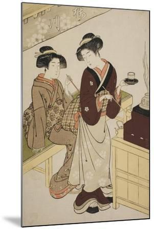 The Sakuragawa Teahouse, C.1777-Kitao Shigemasa-Mounted Giclee Print