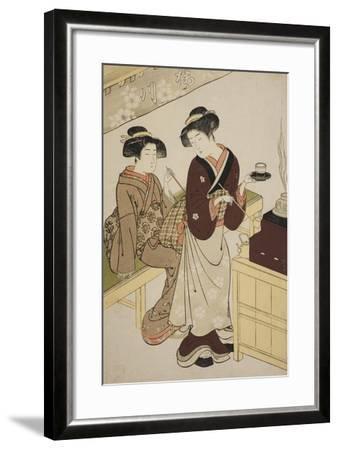 The Sakuragawa Teahouse, C.1777-Kitao Shigemasa-Framed Giclee Print