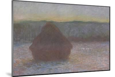 Stack of Wheat (Thaw, Sunset), 1890-91-Claude Monet-Mounted Giclee Print