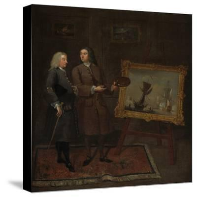 Thomas Walker and Peter Monamy, C.1735-Gawen Hamilton-Stretched Canvas Print