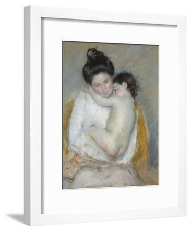 Mother and Child, C.1900-Mary Cassatt-Framed Giclee Print