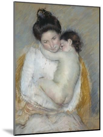 Mother and Child, C.1900-Mary Cassatt-Mounted Giclee Print