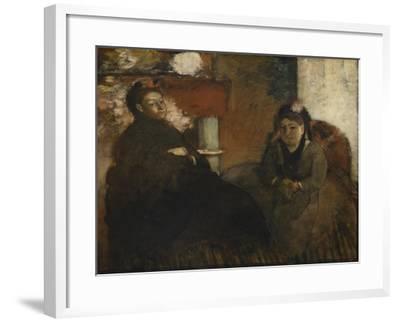Portrait of Mme. Lisle and Mme. Loubens, 1866-70-Edgar Degas-Framed Giclee Print