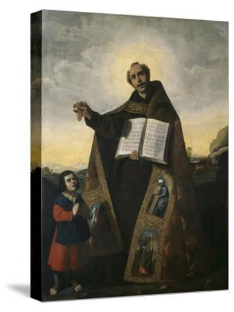 Saint Romanus of Antioch and Saint Barulas, 1638-Francisco de Zurbaran-Stretched Canvas Print