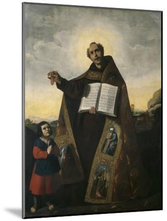 Saint Romanus of Antioch and Saint Barulas, 1638-Francisco de Zurbaran-Mounted Premium Giclee Print