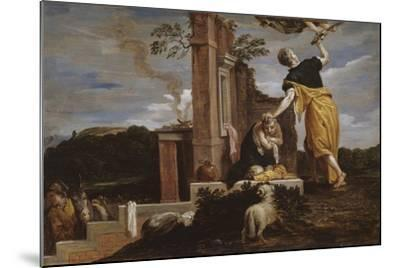 Abraham's Sacrifice of Isaac, 1654-56-David the Younger Teniers-Mounted Giclee Print
