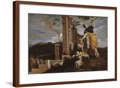 Abraham's Sacrifice of Isaac, 1654-56-David the Younger Teniers-Framed Giclee Print