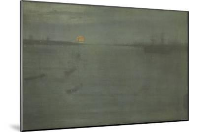 Nocturne: Blue and Gold, Southampton Water, 1872-James Abbott McNeill Whistler-Mounted Giclee Print