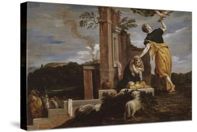 Abraham's Sacrifice of Isaac, 1654-56-David the Younger Teniers-Stretched Canvas Print