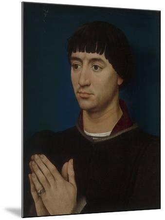 Portrait of Jean Gros, 1460-64-Rogier van der Weyden-Mounted Giclee Print