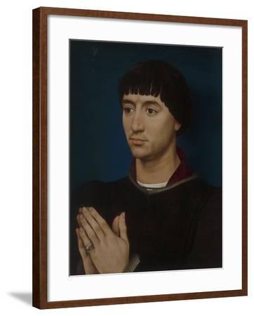 Portrait of Jean Gros, 1460-64-Rogier van der Weyden-Framed Giclee Print