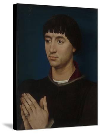 Portrait of Jean Gros, 1460-64-Rogier van der Weyden-Stretched Canvas Print