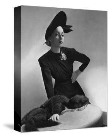 Vogue - July 1938-Horst P. Horst-Stretched Canvas Print