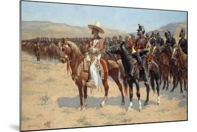 The Mexican Major, 1889-Frederic Remington-Mounted Giclee Print