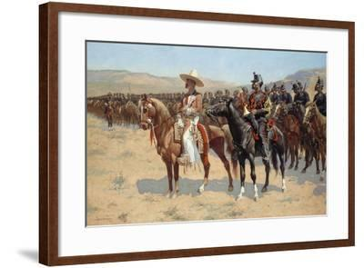 The Mexican Major, 1889-Frederic Remington-Framed Giclee Print