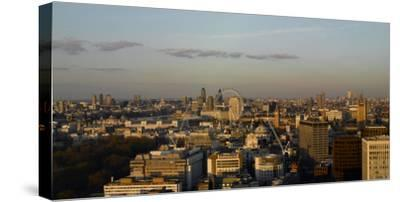 Panorama Looking East from Victoria, London-Richard Bryant-Stretched Canvas Print