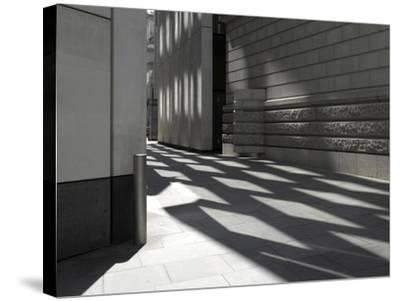 Reflections on Pavement, City of London, London-Richard Bryant-Stretched Canvas Print
