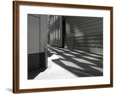 Reflections on Pavement, City of London, London-Richard Bryant-Framed Photographic Print
