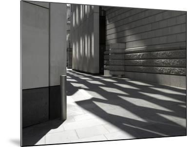 Reflections on Pavement, City of London, London-Richard Bryant-Mounted Photographic Print