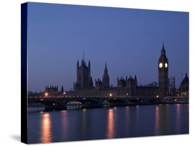 Palace of Westminster, Pre Dawn, London-Richard Bryant-Stretched Canvas Print