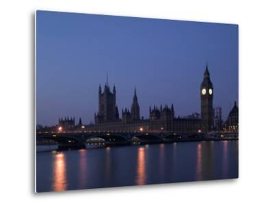Palace of Westminster, Pre Dawn, London-Richard Bryant-Metal Print