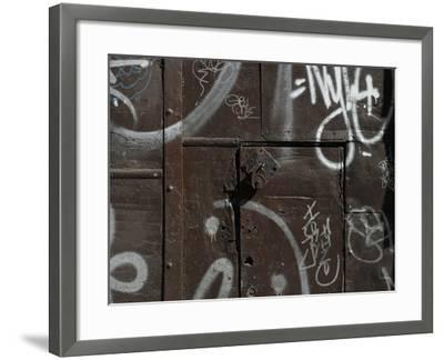Graffiti on Gate, Spitalfields, London-Richard Bryant-Framed Photographic Print