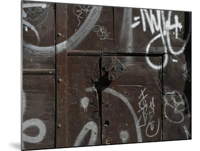 Graffiti on Gate, Spitalfields, London-Richard Bryant-Mounted Photographic Print